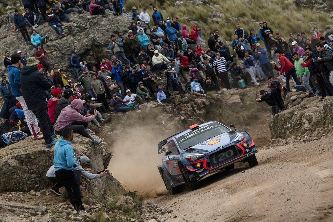 Dani Sordo (ESP) performs during FIA World Rally Championship 2018 in Cordoba, Argentina on 29.04.2018 // Jaanus Ree/Red Bull Content Pool // AP-1VGXMZ3912111 // Usage for editorial use only // Please go to www.redbullcontentpool.com for further information. //