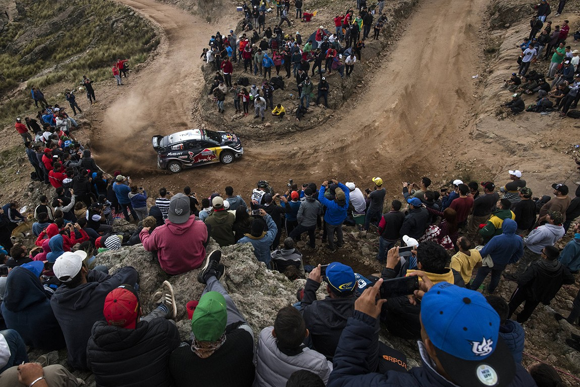 Sebastien Ogier (FRA) performs during FIA World Rally Championship 2018 in Cordoba, Argentina on 29.04.2018 // Jaanus Ree/Red Bull Content Pool // AP-1VGXNMUZ52111 // Usage for editorial use only // Please go to www.redbullcontentpool.com for further information. //