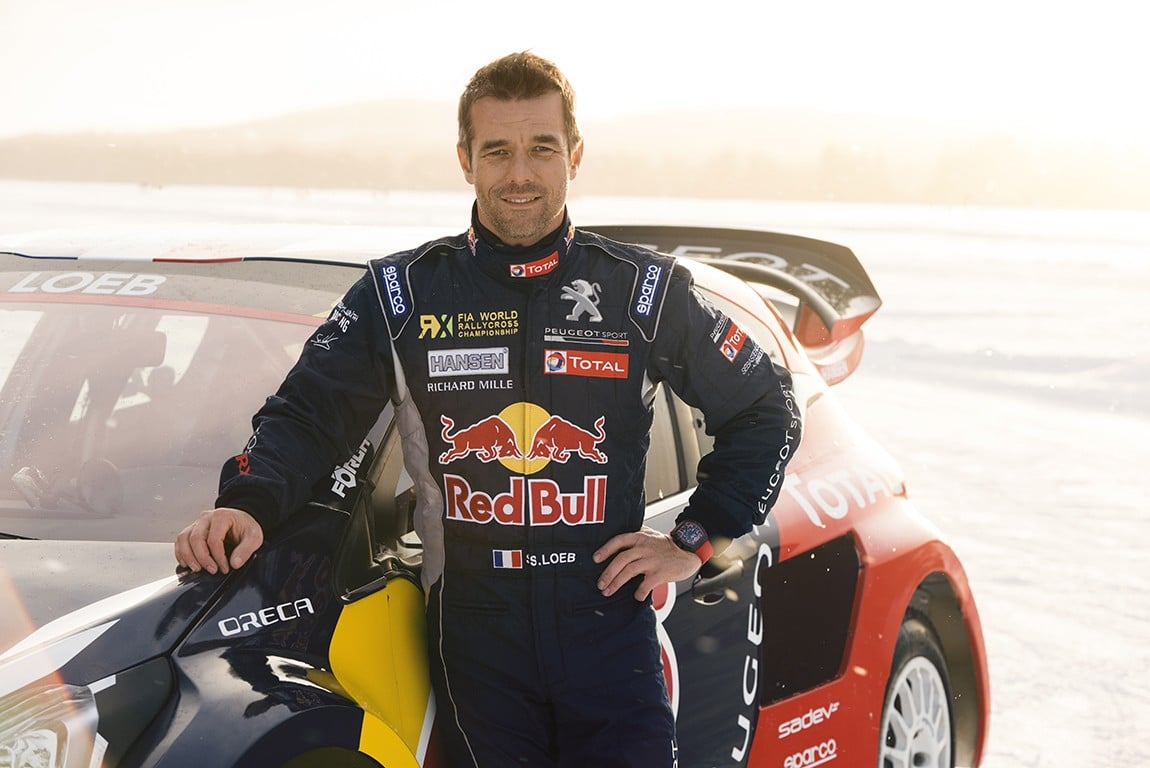 Sebastien Loeb poses for a portrait during the Rallycross on Ice project in Are, Sweden on February 16, 2016 // Oskar Bakke/Red Bull Content Pool // P-20160226-00312 // Usage for editorial use only // Please go to www.redbullcontentpool.com for further information. //