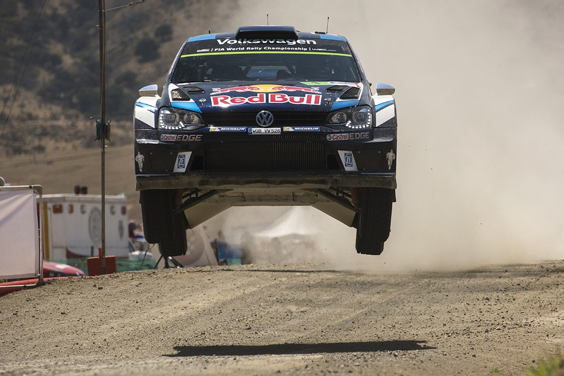 Sebastien Ogier (FRA) performs during the FIA World Rally Championship Mexico 2016 in Leon, Mexico on March 6, 2016 // Jaanus Ree/Red Bull Content Pool // P-20160306-00266 // Usage for editorial use only // Please go to www.redbullcontentpool.com for further information. //