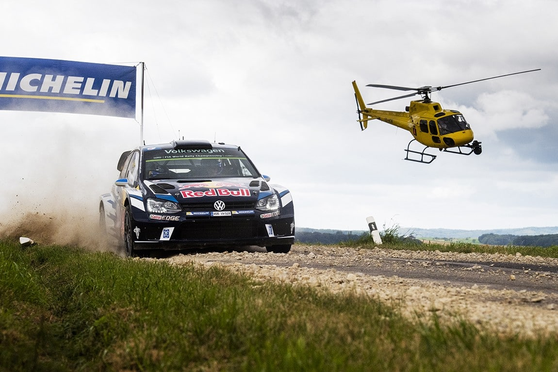 Sebastien Ogier (FRA) performs during the FIA World Rally Championship 2016 Germany in Trier, Germany on August 21, 2016 // Jaanus Ree/Red Bull Content Pool // P-20160821-00303 // Usage for editorial use only // Please go to www.redbullcontentpool.com for further information. //