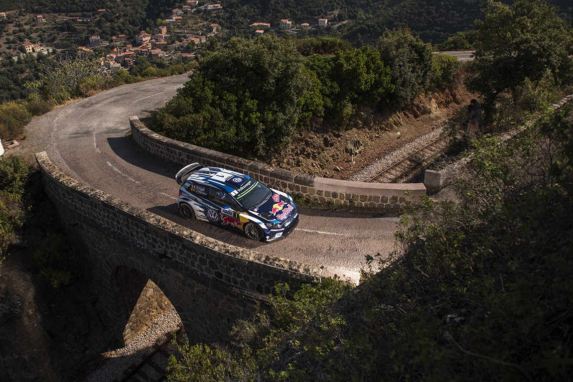 Sebastien Ogier (FRA) performs during  FIA World Rally Championship 2016 France in Ajaccio , France on October 1, 2016 // Jaanus Ree/Red Bull Content Pool // P-20161001-01918 // Usage for editorial use only // Please go to www.redbullcontentpool.com for further information. //