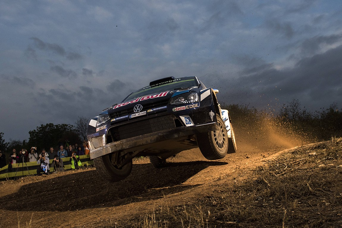 Sebastien Ogier (FRA) performs during FIA World Rally Championship 2016 Spain in Salou , Spain  on 13 October 2016 // Jaanus Ree/Red Bull Content Pool // P-20161013-00512 // Usage for editorial use only // Please go to www.redbullcontentpool.com for further information. //