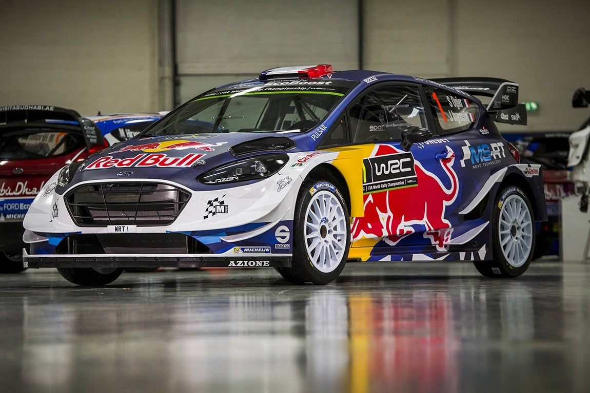 M-Sport reveal the new livery for their 2017 EcoBoost-powered Ford Fiesta which will be driven by four-time World Rally Champion Sebastien Ogier. // M-Sport/Red Bull Content Pool // P-20161223-00951 // Usage for editorial use only // Please go to www.redbullcontentpool.com for further information. //