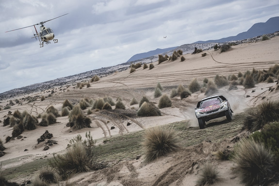 Sebastien Loeb (FRA) of Team Peugeot TOTAL races during stage 5 of Rally Dakar 2017 from Tupiza to Oruro, Bolivia on January 6, 2017. // Flavien Duhamel/Red Bull Content Pool // P-20170109-01519 // Usage for editorial use only // Please go to www.redbullcontentpool.com for further information. //