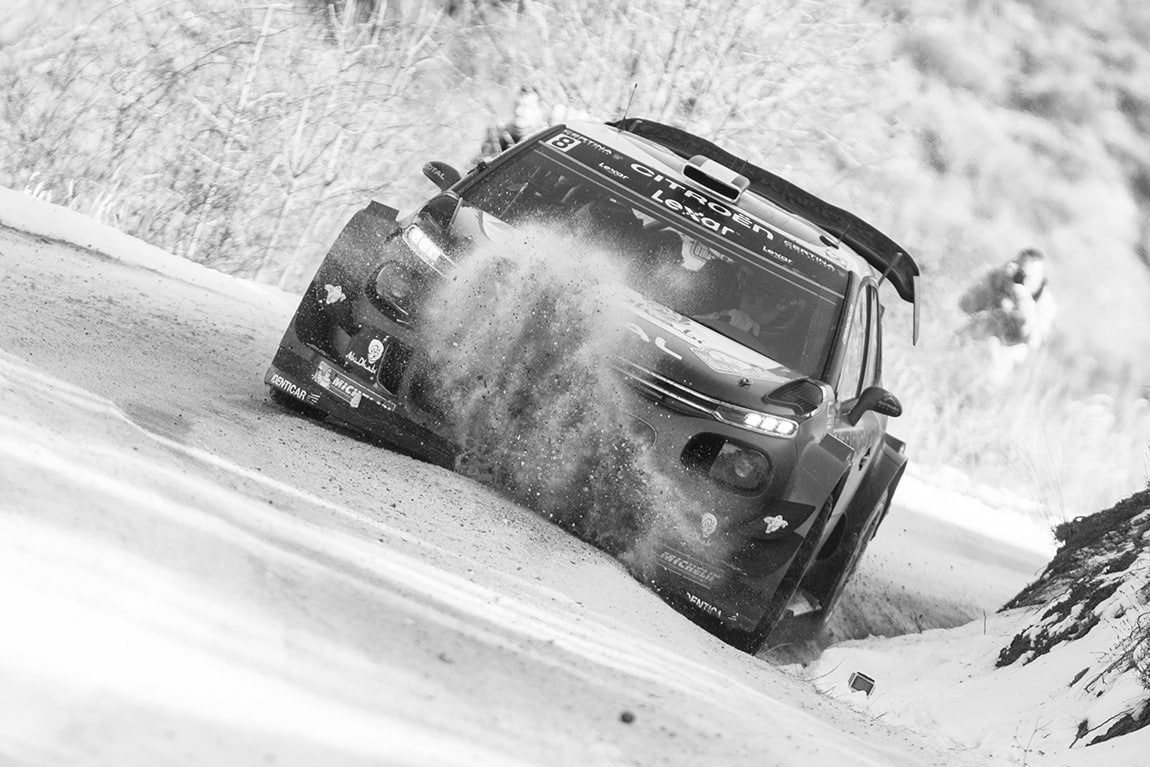 Craig Breen (IRL) competes during the FIA World Rally Championship 2017 in Monte Carlo, Monaco on January 21, 2017 // Jaanus Ree/Red Bull Content Pool // P-20170122-00666 // Usage for editorial use only // Please go to www.redbullcontentpool.com for further information. //