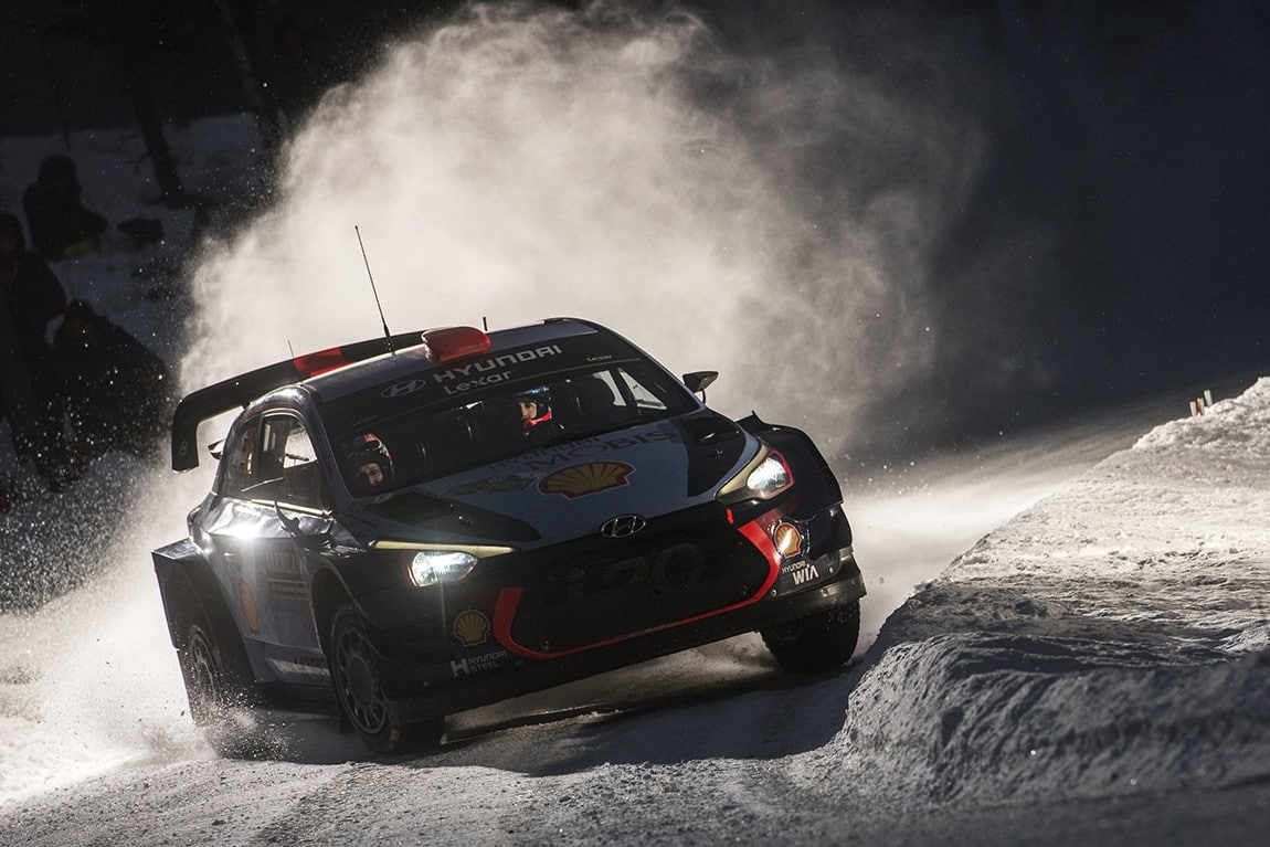 Dani Sordo (ESP) competes during the FIA World Rally Championship 2017 in Torsby, Sweden on February 12, 2017 // Jaanus Ree/Red Bull Content Pool // P-20170212-00413 // Usage for editorial use only // Please go to www.redbullcontentpool.com for further information. //