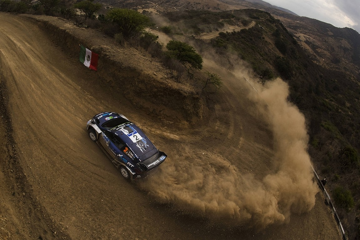 Ott Tanak (EST) performs during the FIA World Rally Championship 2017 in Leon, Mexico on March 11, 2017 // Jaanus Ree/Red Bull Content Pool // P-20170312-00111 // Usage for editorial use only // Please go to www.redbullcontentpool.com for further information. //