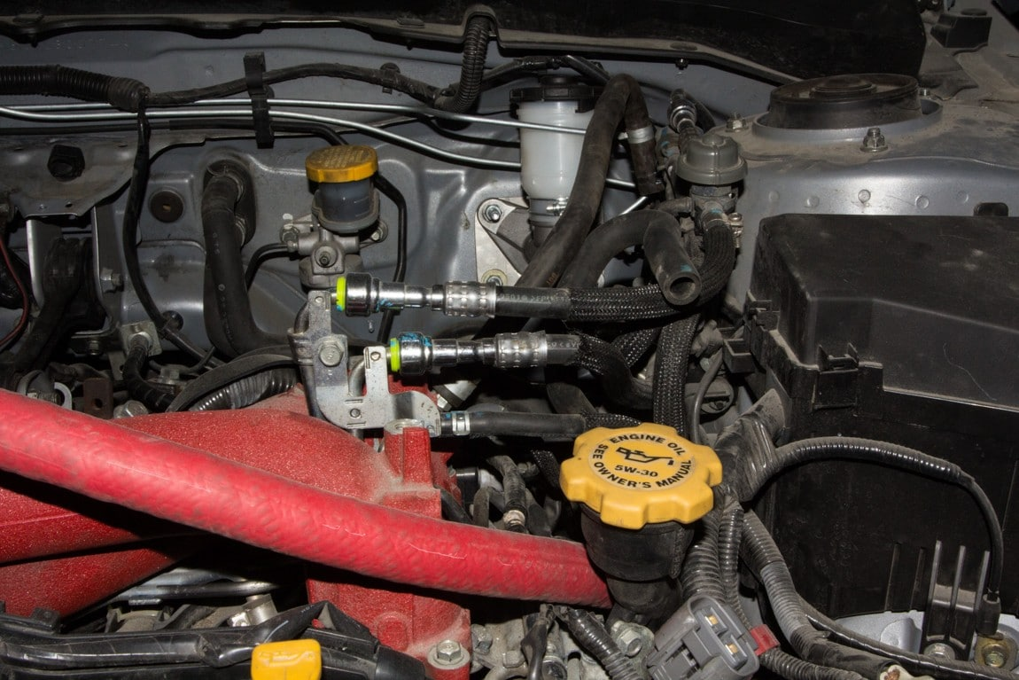 What Goes Into Building Our Subaru Sti Dirtfish 2011 Impreza Fuel Filter Location Normally The Windshield Washer Reservoir Is Located In Front Of Car Where There A High Chance It Getting Damaged But To Minimized Risk
